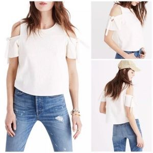 Madewell Skylark Cold Shoulder Top XS